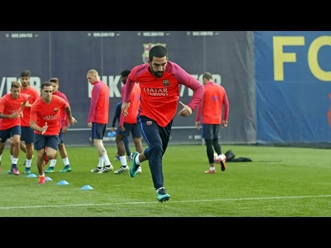 FC Barcelona training session: preparations for Catalunya Super Cup