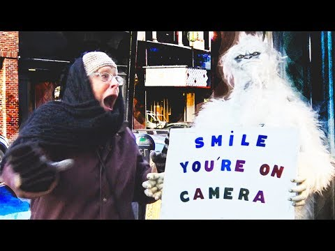 YETI ON THE STREETS PRANK - Hidden Camera Practical Joke