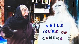 YETI ON THE STREETS PRANK - Hidden Camera Practical Joke