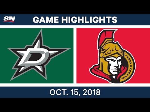 NHL Highlights | Stars vs. Senators - Oct. 15, 2018