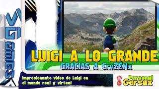 Impresionante video de Luigi en el mundo real y virtual