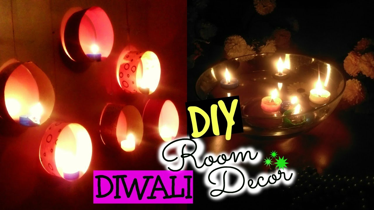 Diy diwali room decor ideas quick easy floating for Room decoration ideas in diwali