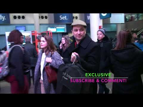 EXCLUSIVE: Keri Russell and Husband Matthew Rhys arrive into Washington DC on March 20 2018