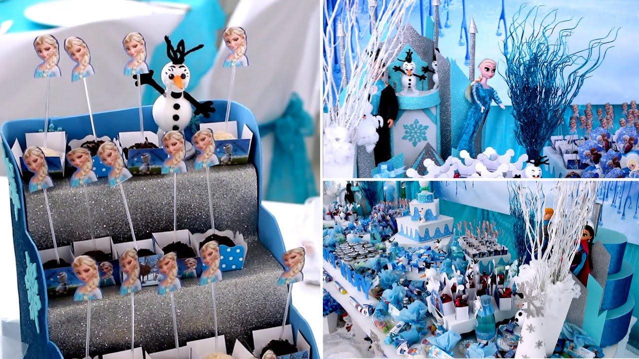 Festa da Frozen vários doces