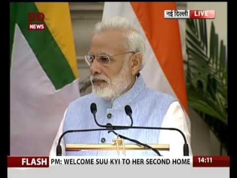 PM Modi and Aung San Suu Kyi issue Joint Statement