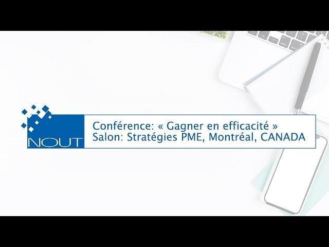 Salon Stratégie PME   Montréal : Replay de la conférence ERP CRM :