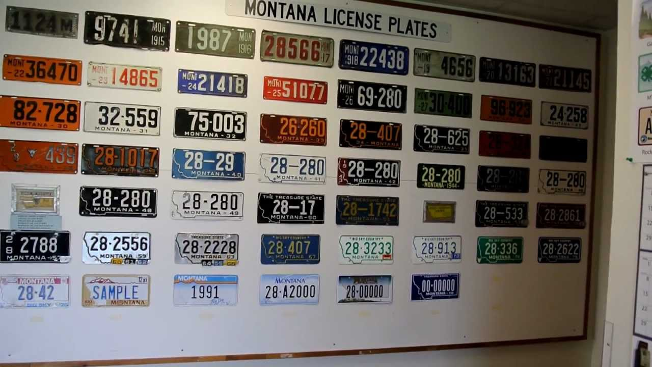 ALL Vintage Montana License Plates Antique State Plate Complete ...
