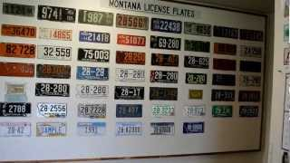 ALL Vintage Montana License Plates Antique State Plate Complete Collection