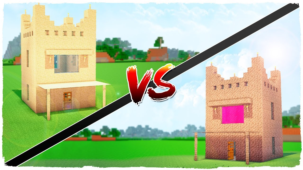 Casa de arena vs casa de grava minecraft youtube for Casa moderna 6 mirote y blancana