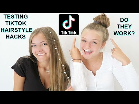 Trying Viral TikTok Hairstyle Hacks ~ Jacy and Kacy
