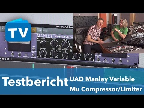 UAD Manley Variable Mu Plug-in VS Hardware Compressor Limiter