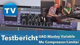 UAD Manley Variable Mu Plug-in VS Hardware Compressor Limiter