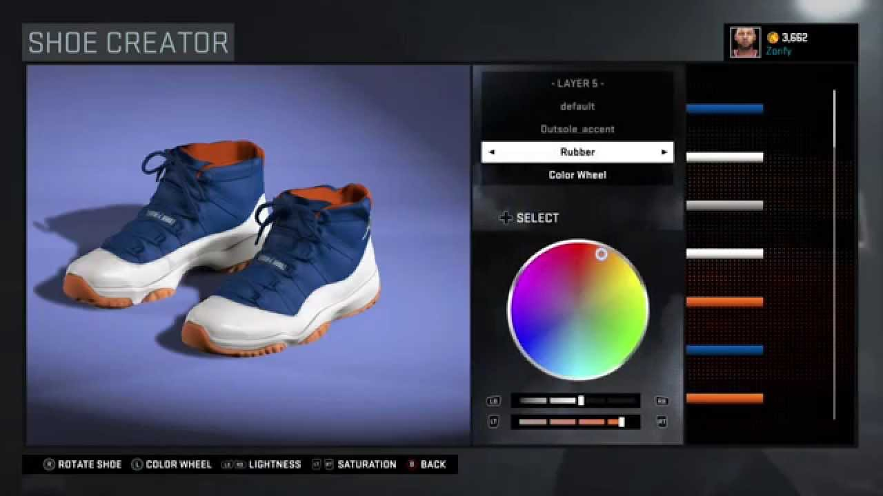 e7f7abdc8474a5 NBA 2K16 Shoe Creator - Air Jordan 11 Custom
