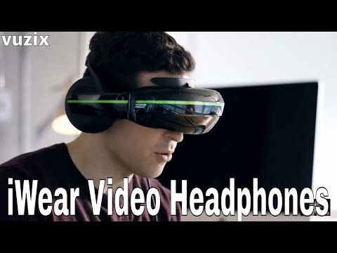Vuzix iWear Video Headphones 2018 | Wearable Display for Mobile Entertainment | Gaming, VR & More