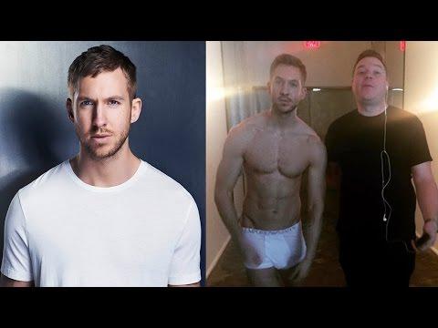 Calvin Harris Gives Birthday Surprise... In His Underwear