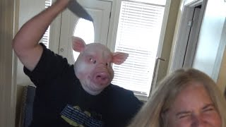 THE PSYCHOTIC PIG MASK PRANK!