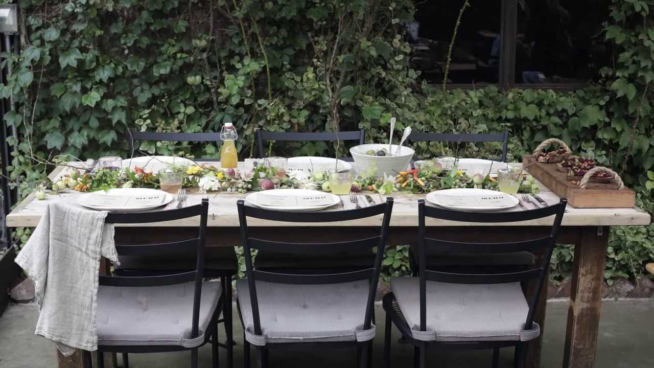 setting the perfect garden party table youtube
