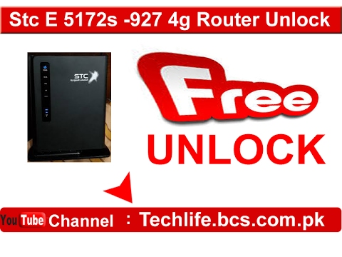 STC E5172-927 4g router free unlock