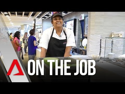 On the Job: Food court cleaner