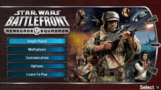 Star Wars: Battlefront - Renegade Squadron | Customization & Boz Pity Gameplay!! (PSP)