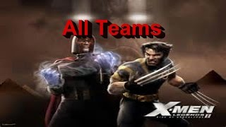 X-MEN Legends 2 Rise of Apocalypse All Teams PS2