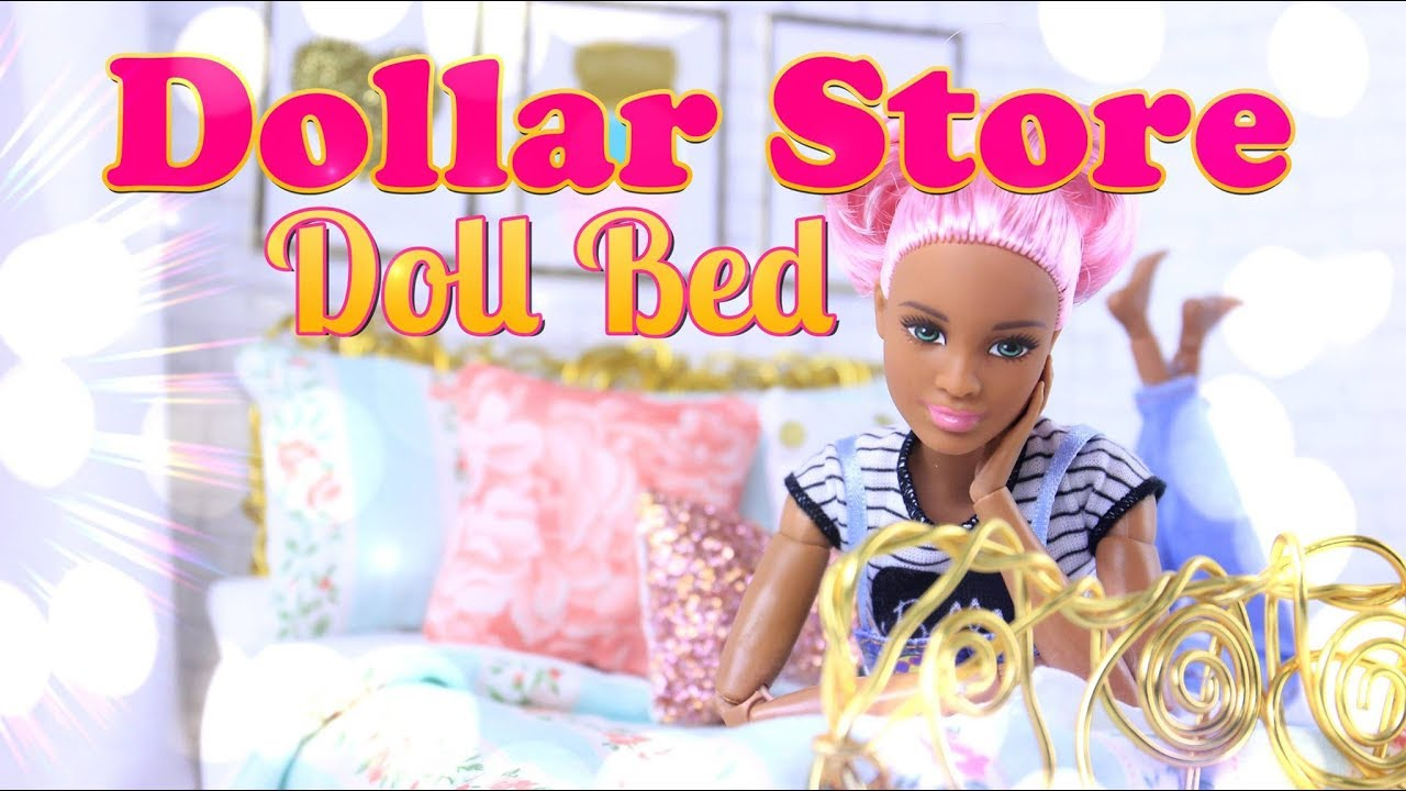 Diy How To Make Dollar Store Doll Bed Handmade