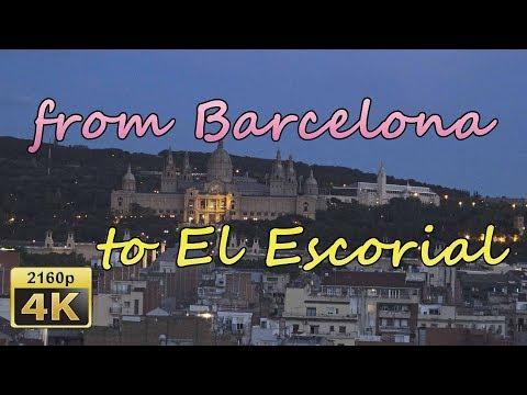 From Barcelona via Madrid to El Escorial - Spain 4K Travel Channel
