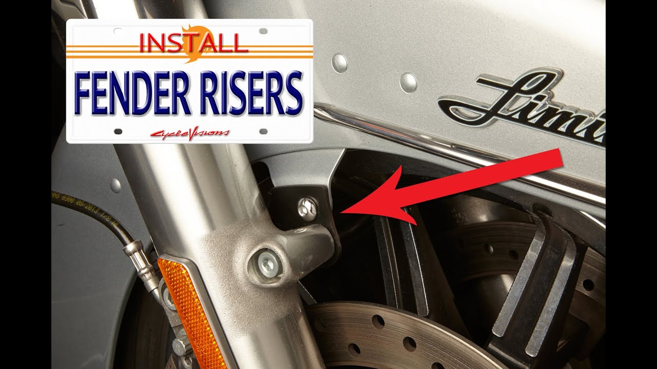 Cycle Visions Fender Risers how to