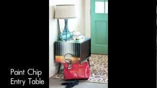 Diy Paint Chip Entry Table