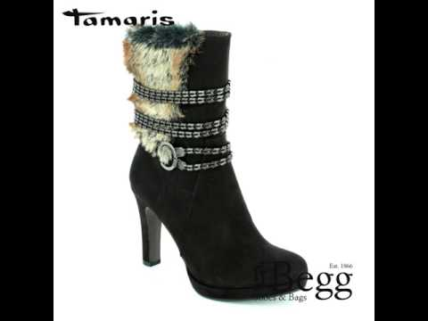 Tamaris 25314-001 Black ankle boots