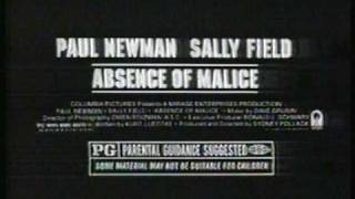 'Absence of Malice' - movie trailer - TV ad (1981)