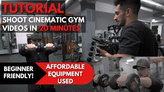 How I Shoot EPIC Gym Videos!💪🏼🎥| Fitness Film Tutorial