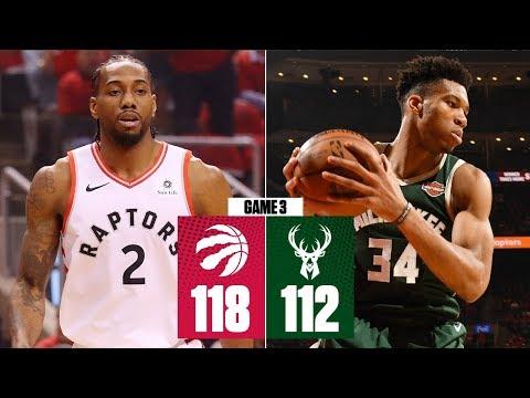 Kawhi comes up clutch in 2OT win | Bucks vs. Raptors Game 3 | 2019 NBA Playoff Highlights