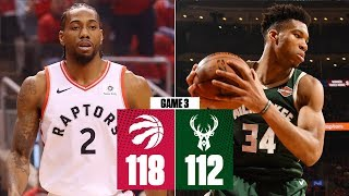Kawhi comes up clutch in 2OT win | Bucks vs. Raptors Game 3 | 2019 NBA Playoff Highlights
