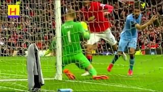 اهداف مباراة مانشستر يونايتد 4-2 مانشستر ستي HD  عصام الشوالي