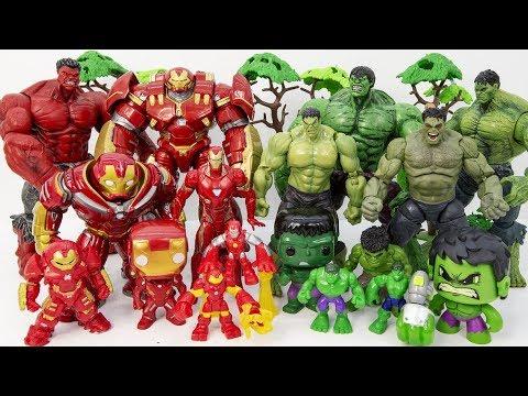 Download HULKBUSTER & IRON MAN vs HULK~ GO GO GO! Marvel HULK SMASH Collections Toy Battle #Toysplaytime