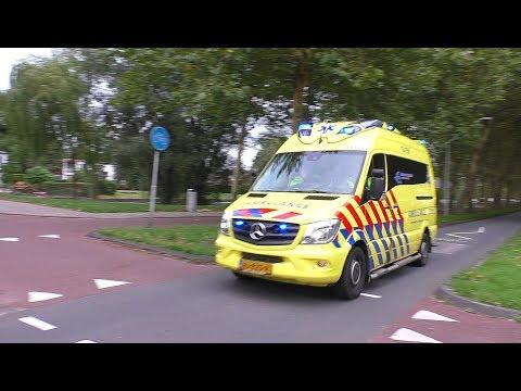 A1 Ambulance 10-186 naar Groet & 13-159 naar Amsterdam-Sloten