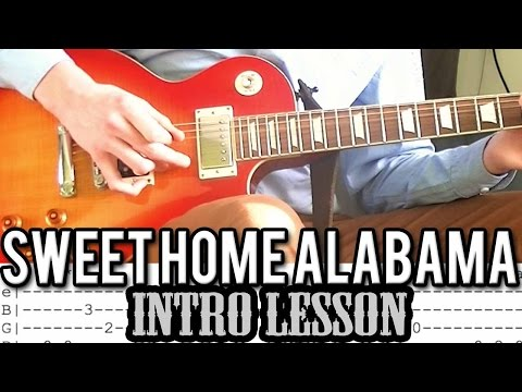 Lynyrd Skynyrd - Sweet Home Alabama Intro Guitar Lesson (With Tabs)