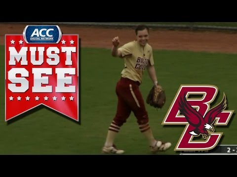 BC's Megan Cooley Makes Impressive Diving Catch In Center | ACC Must See Moment