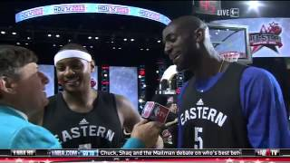 Melo and KG reunite after fight - 2013 NBA All-star Weekend