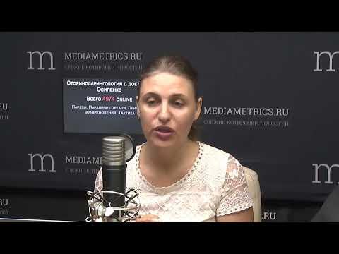 Оториноларингология с доктором Осипенко. Парезы. Параличи гортани. Причины возникновения. Тактика