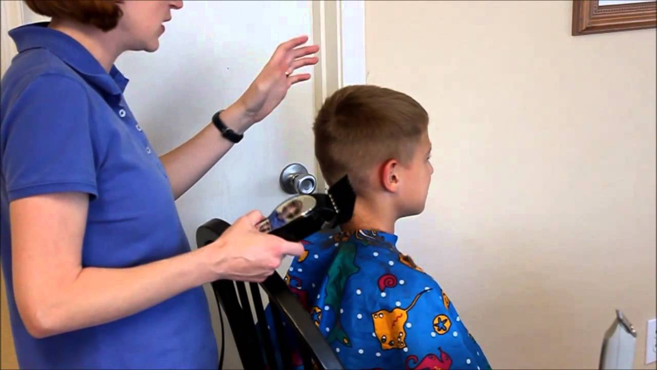 How To Do A Boys Haircut With Clippers Youtube