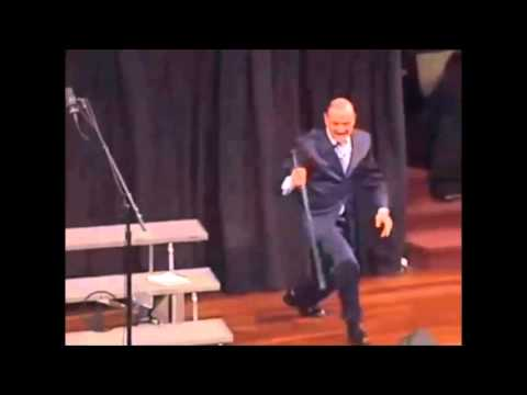 Extreme Baptist Larry Brown Smashes a Television in Church