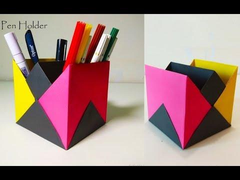 Origami Pen Stand | Pen Holder | Craft Ideas