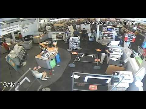 CLEARER VIDEO: Staples Customer Thrown Down, Leg Broken, By Woman Who Refuses To Wear Mask