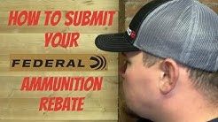 How To Submit The Federal Ammunition Rebate