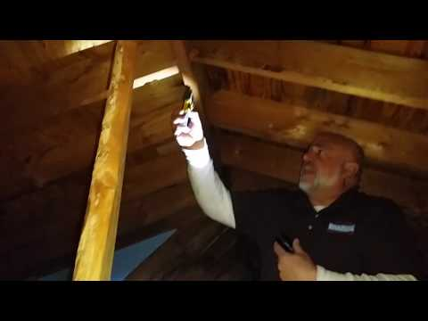 Wet sheathing in attic
