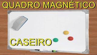 COMO FAZER PAINEL - QUADRO MAGNÉTICO / MAGNETIC BOARD - PANEL - TABLERO MAGNÉTICO(Olá amigos do YOUTUBE, neste vídeo ensino para vocês como instalar quadro magnético, vamos usar perto do computador para recados e lembretes, pode ..., 2016-02-23T17:31:16.000Z)
