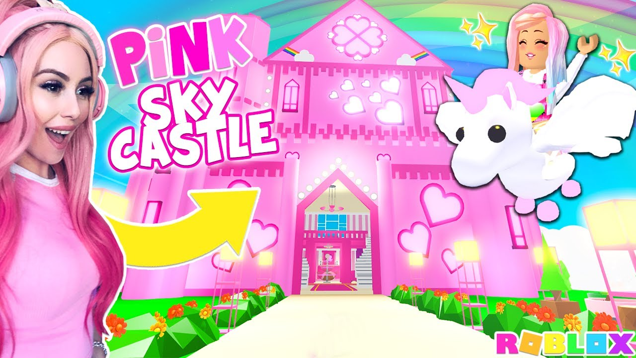 I Bought The Brand New Pink Sky Castle In Adopt Me Pink
