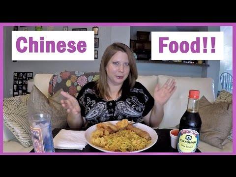 Chinese Food - Singapore Noodles, Egg Roll, Crab Rangoon & Fried Shrimp: MUKBANG